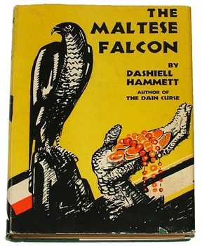 Dashiell Hammett, The Maltese Falcon, Cover of the first edition (1930)