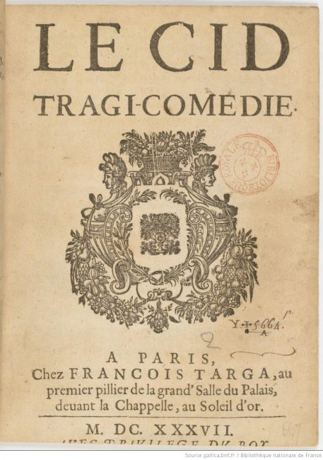 Pierre Corneille, Le Cid, 1637 edition