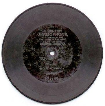 1897 Berliner Gramophone record