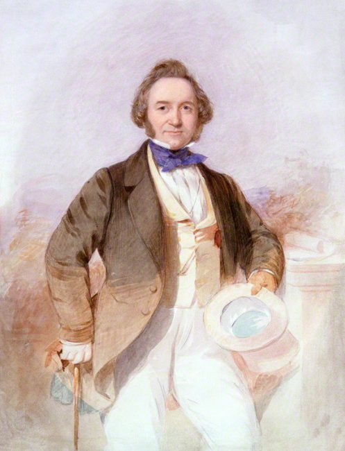 Sir Joseph Paxton (1803-1865), painting by Octavius Oakley, c. 1850