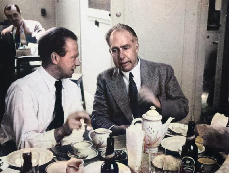 Werner Heisenberg and Niels Bohr