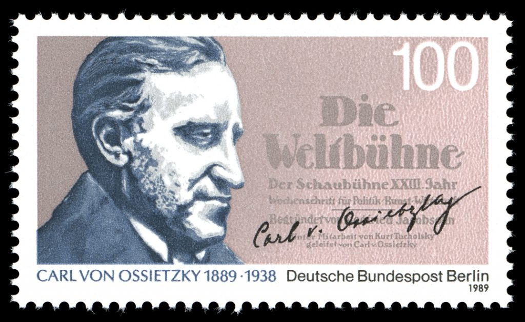 Carl von Ossietzky (1889-1938), Stamps of GErmany, 1989