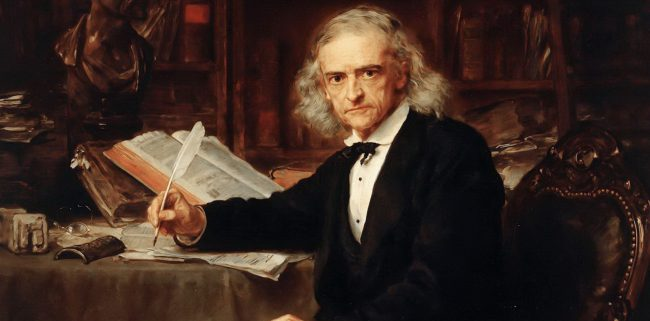 Theodor Mommsen (1817-1908), cropped painting by Ludwig Knaus - Nationalgalerie Berlin, A I 315