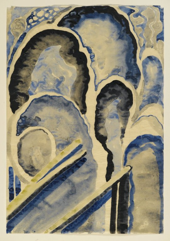 O'Keeffe, Blue #1, 1916, watercolor and graphite on paper, Brooklyn Museum