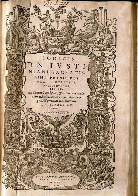 Codex Iustinianus, 1561