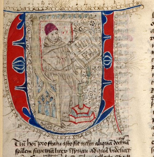 "The ""Quaestiones"" by John Duns Scotus (manuscript of the XIV-XV century): decorated initial."