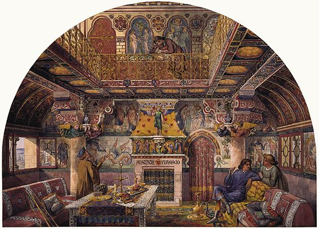 Burges's design for the Summer Smoking Room at Cardiff Castle