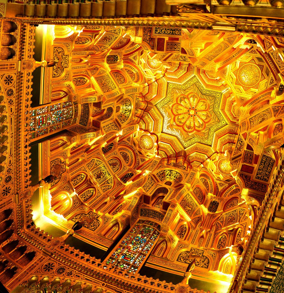 The Arab Room ceiling – Cardiff Castle