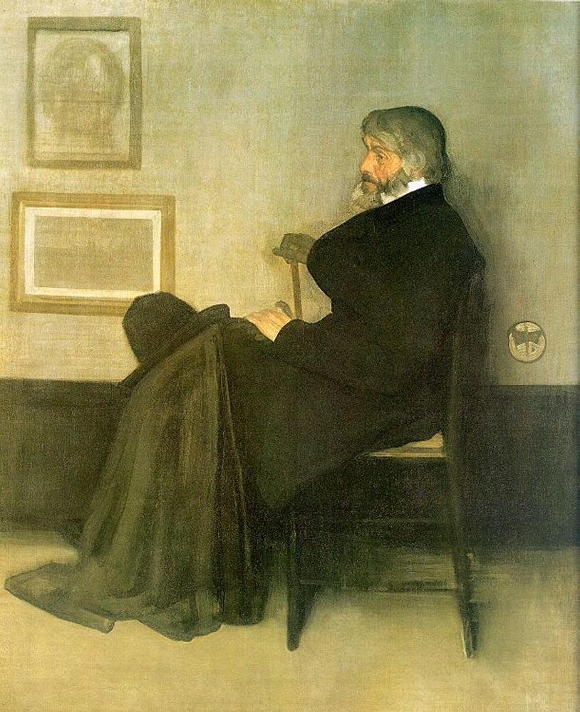 Arrangement in Grey and Black, No. 2: Portrait of Thomas Carlyle. James McNeill Whistler, 1872–73