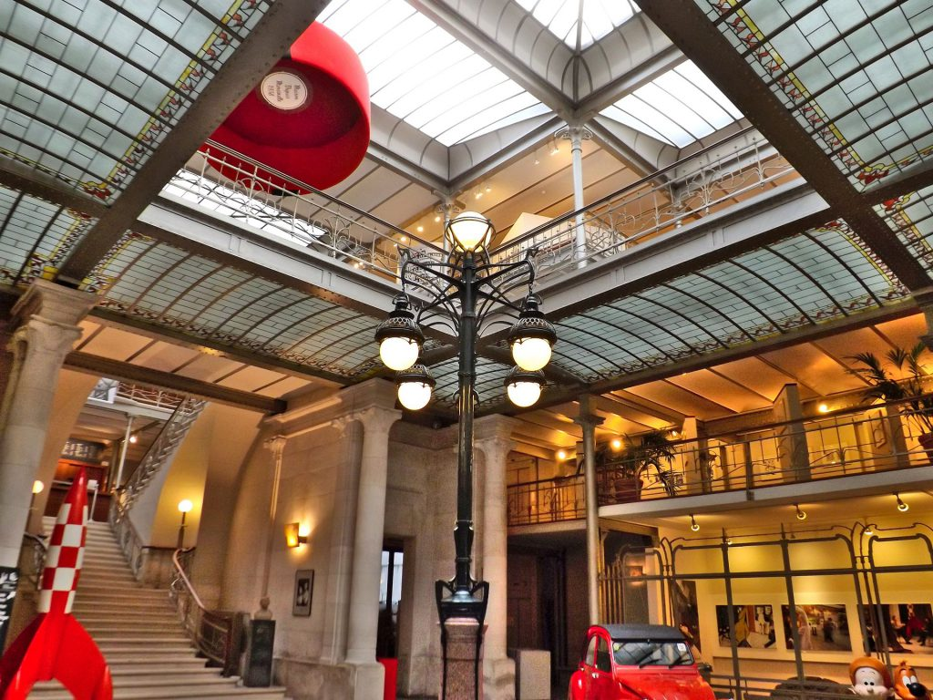 Entrance hall of the former Magasins Waucquez, now the Belgian Comic Strip Center (1905), by Victor Horta
