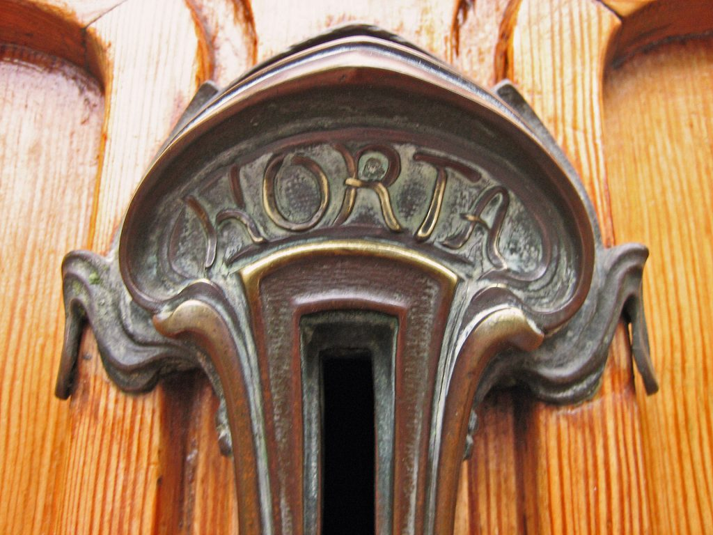 Detail of the door of the Horta Museum, Victor Horta
