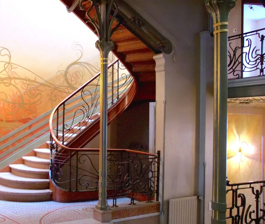 Stairway of the Hôtel Tassel, Brussels (1893), by Victor Horta
