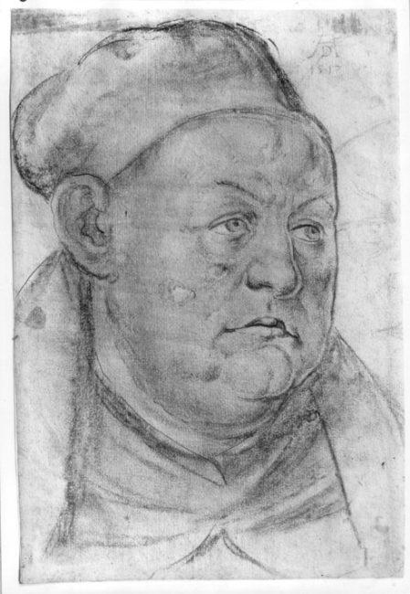 Johannes Trithemius (1462-1516), drawing by Albrecht Dürer (1517)