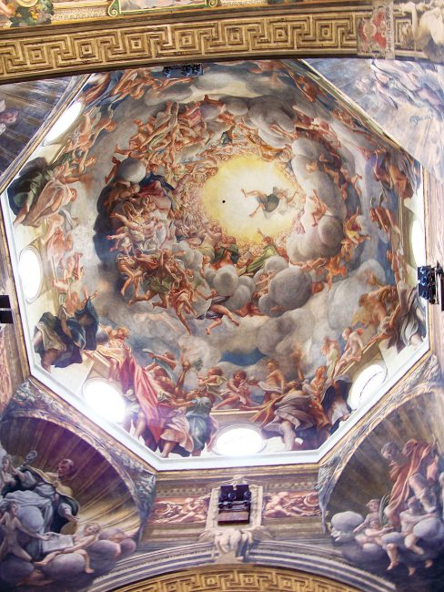 "Dome of the Cathedral of Parma, fresco with the ""Assumption of the Virgin"" by Antonio da Correggio, c. 1526"