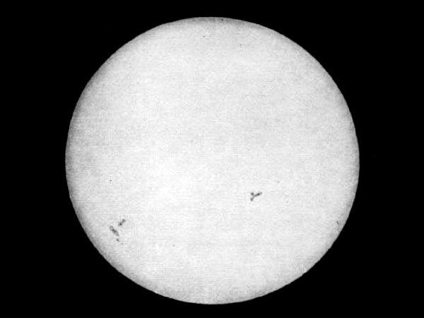 The first photograph of the Sun was made by Léon Foucault and Hippolyte Fizeau on 2 April 1845 in Paris, France.