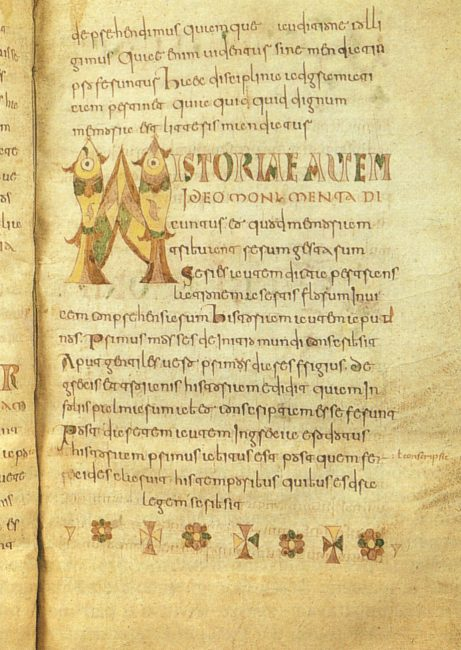 A page of Etymologiae, Carolingian manuscript (8th century), Brussels, Royal Library of Belgium