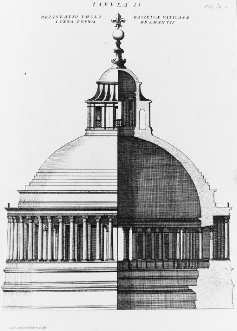 The dome of St Peter's Basilica, as planned by Bramante