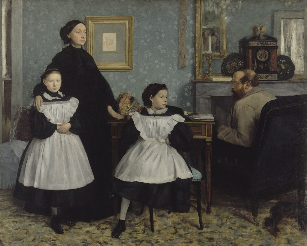 The Bellelli family (1858-1867), oil on canvas, 200 × 250 cm