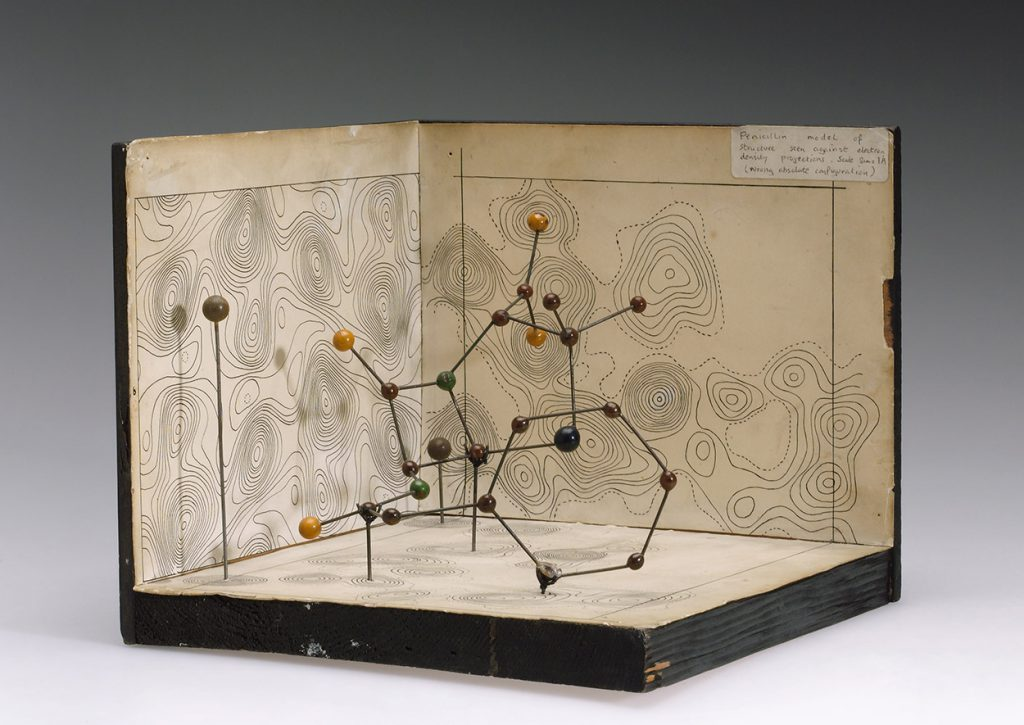 Molecular model of penicillin by Hodgkin, c. 1945