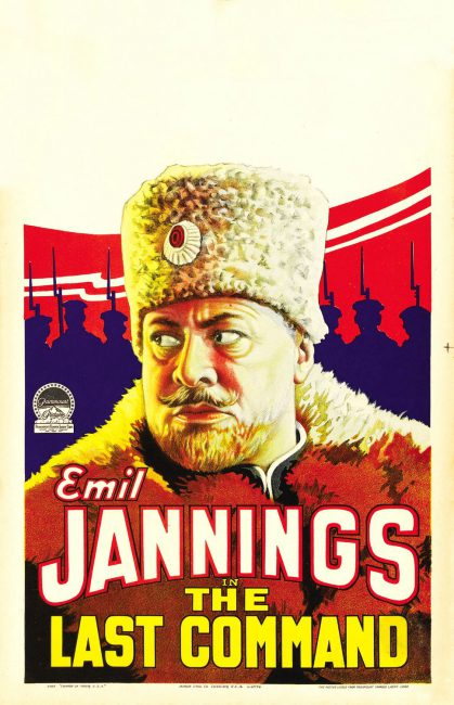 The Last Command (1928), featuring Emil Jannings,  film poster.