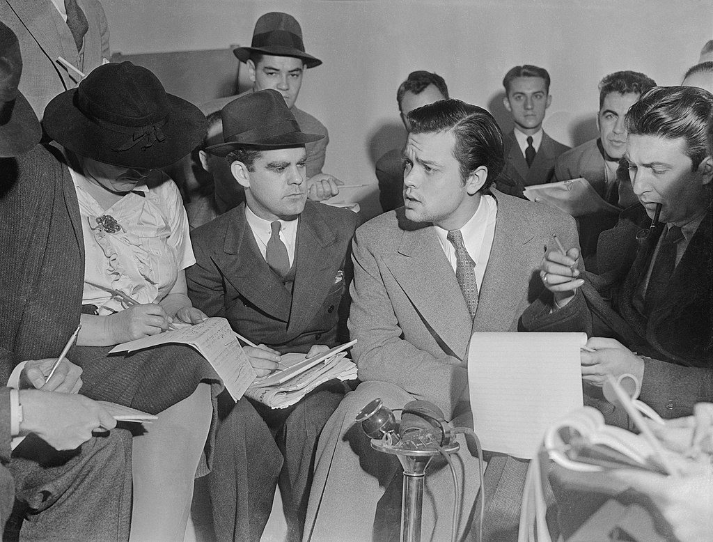 Orson Welles tells reporters that no one connected with the broadcast had any idea that it would cause panic (October 31, 1938).