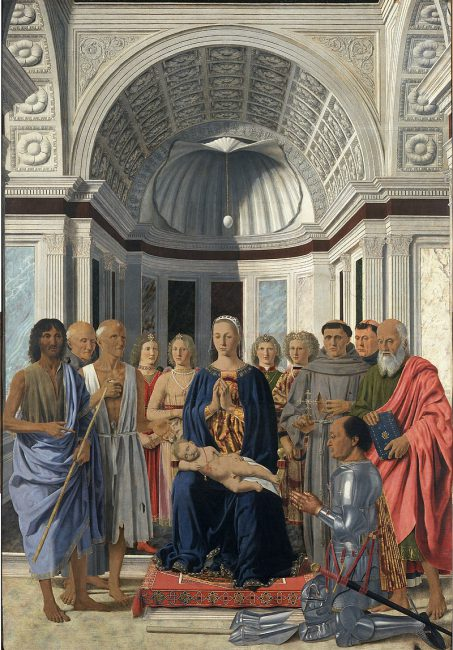 Piero dela Francesca, The Montefeltro Altarpiece or the Brera Madonna
