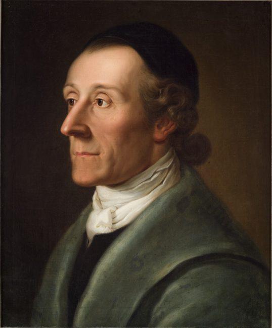 Johann Kaspar Lavater (), painting by Alexander Speisegger (1785)