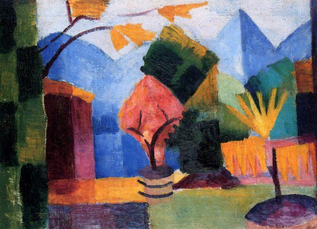 August Macke, Garten am Thuner See (1913)