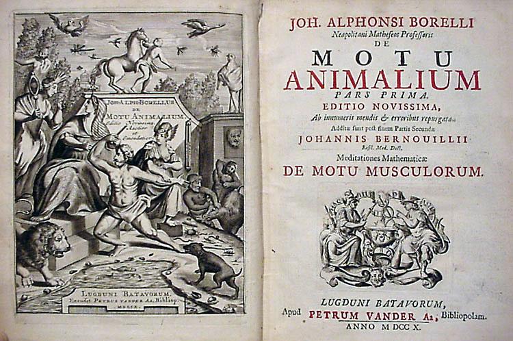 Giovanni Alfonso Borelli, Motu Animalium book cover (1680), cover