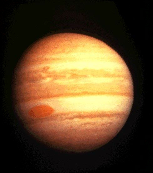 Pioneer 10 image of Jupiter (image A50, taken on 1973/12/01 at a distance of 2557000 Km)