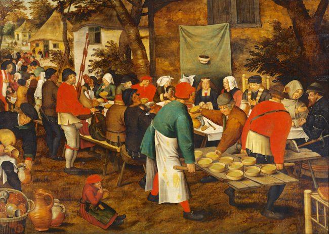 Pieter Brueghel the Younger after Pieter Bruegel the Elder: The Peasant Wedding (1630) Tokyo Fuji Art Museum