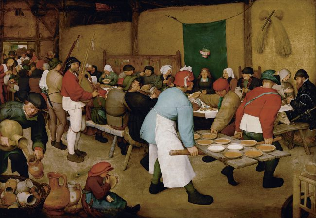 Pieter Bruegel the Elder The Peasant Wedding (ca. 1568) Vienna, Kunsthistorisches Museum