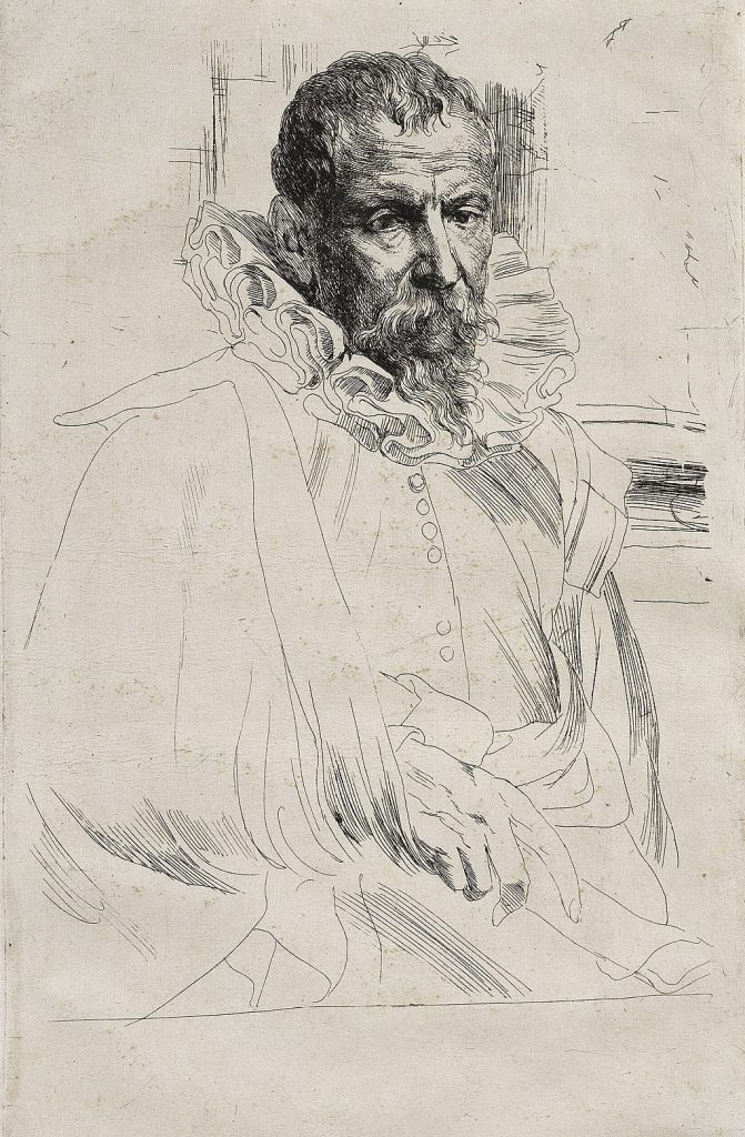 Pieter Breughel the Younger (1564 - 1638), Portrait by Anthony Van Dyck