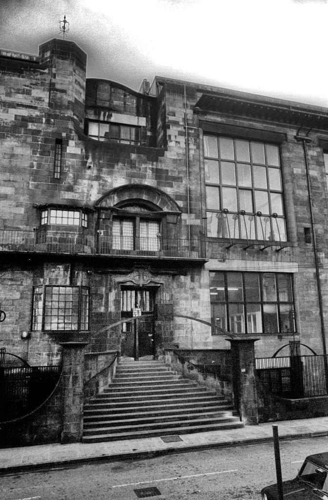 Glasgow School of Art front entrance by Charles Rennie Mackintosh
