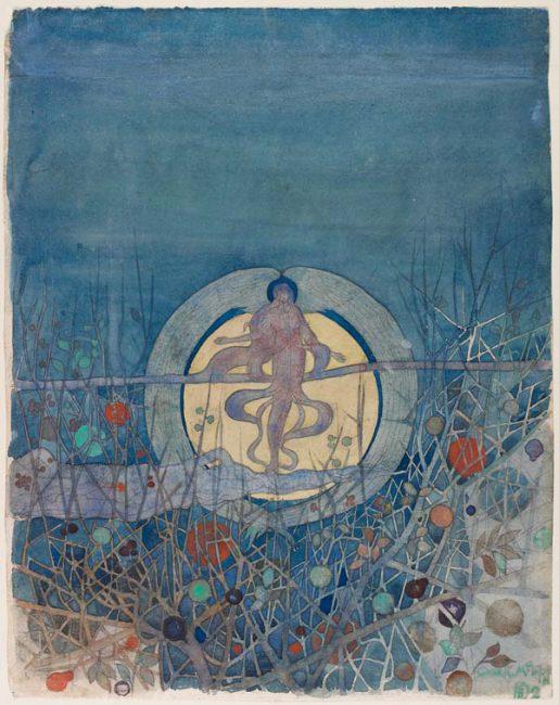 The Harvest Moon - Charles Rennie Mackintosh - 1892.jpg
