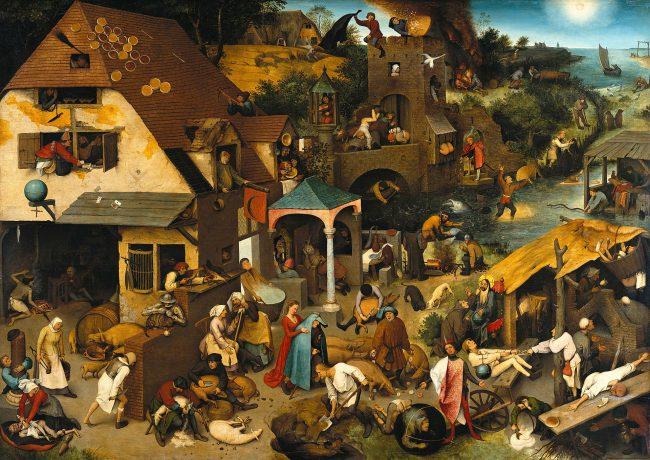 Pieter Drueghel the Elder, Netherlandish Proverbs (1559)